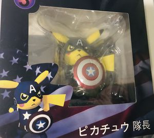 Captain America Pikachu Collectible Action Figure Brand New Never taken out of box for Sale in Beverly Hills, CA