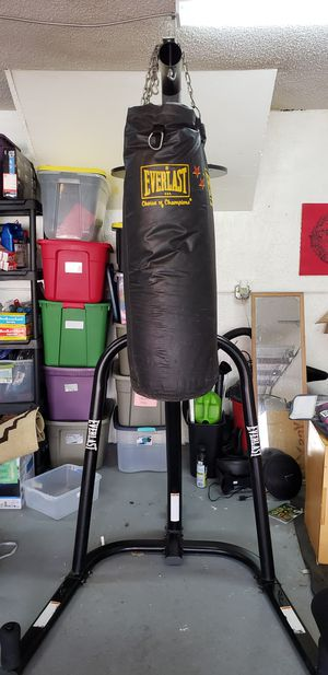 Punching bag stand, bag, and gloves. for Sale in Homestead, FL