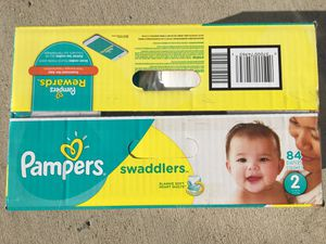 Pampers Swaddlers Size 2 box for Sale in Manassas, VA