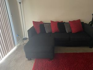 Black sectional couch for Sale in Portsmouth, VA