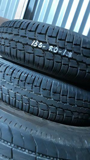 T(2) 155/80/13 trailer tires for Sale in Salt Lake City, UT