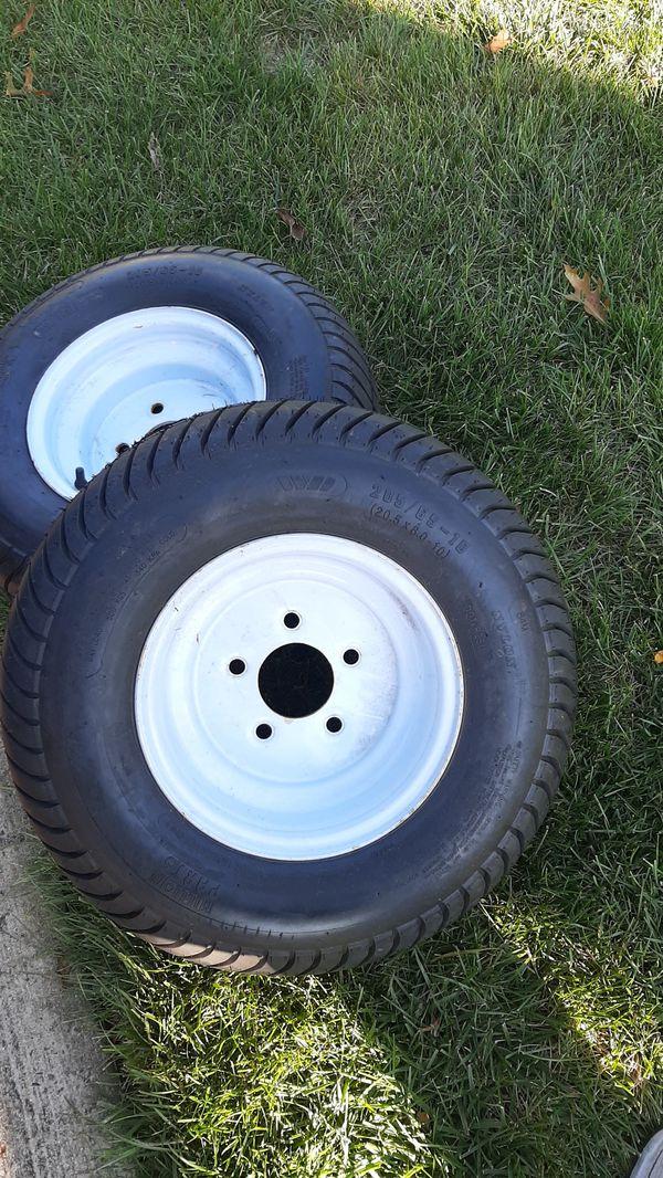 Set of 205 - 65 - 10 Trailer tires for sale75 Dollars