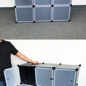 "New $40 Plastic Storage 9-Cube DYI Shelf with Door Clothing Wardobe 43""x14""x43"" for Sale in Whittier, CA"