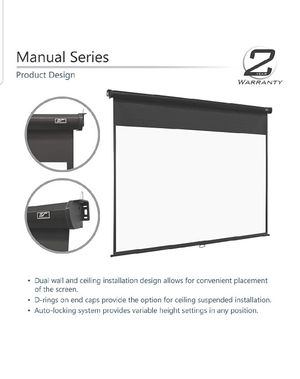 Elite Screens Manual Series, 84-INCH 16:9, Pull Down Manual Projector Screen with AUTO LOCK, Movie Home Theater 8K / 4K Ultra HD 3D Ready, New, for Sale in Palatine, IL
