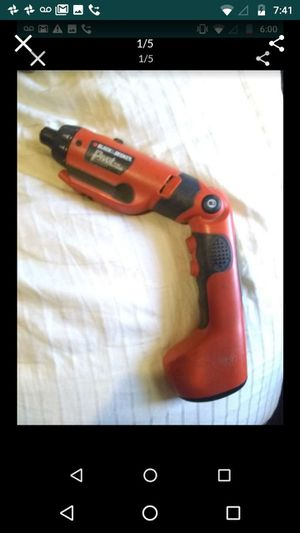 Pick up now!$10 used black and Decker 6v pivot plus drill drive for Sale in Philadelphia, PA