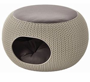 Keter Pets Knit Cozy Pet Home, Luxury Lounge Bed & Pet Home with Cushions, Sandy Beige for Sale in Salt Lake City, UT