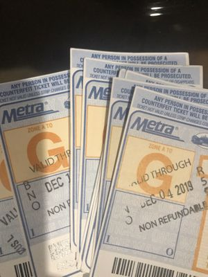 Metra G pass (20) for Sale in Palatine, IL