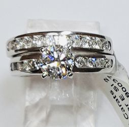 Diamond Engagement / Wedding / Anniversary Set 1.75 Carats Diamonds Platinum Gemological Institute Lab Appraisal $13,500 60% Off Now $4950 for Sale in Fort Lauderdale,  FL