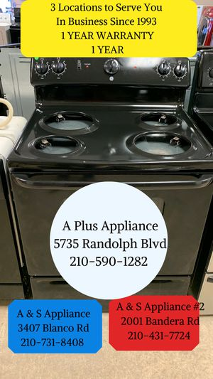 Ge Electric Stove 1 Year Warranty for Sale in San Antonio, TX