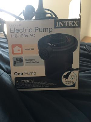Intex Inflatable Electric Pump for Sale in Tampa, FL