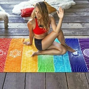 Go to dtevolution (Dot) net / Chakra colored yoga matt. for Sale in Brooklyn, OH