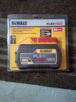 Dewalt Flex Volt 9.0 lithium ION Battery 20-60v for Sale in Redwood City, CA