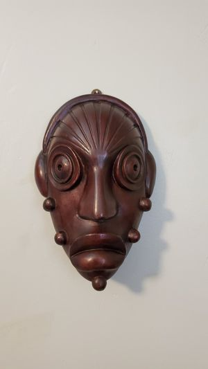 Exotic African Solid Wood Carved Mask for Sale in San Antonio, TX