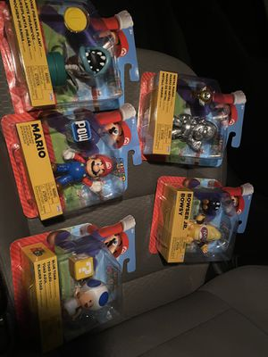 Super Mario characters! Whole set! Each have been sold for 20-30 on eBay! Sold out at stores! Target exclusive 80! Takes em! for Sale in Los Angeles, CA