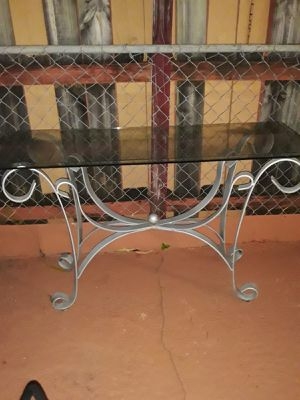 Glass table can be used for tv/computer stand for Sale in Hialeah, FL