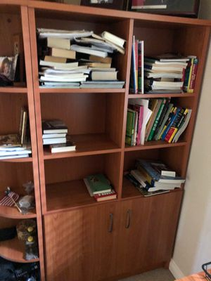 """Cabinet with shelf for books or documents for home or office with corner shelf Real wood !from """"Dania"""" for Sale in Fort Lee, NJ"""