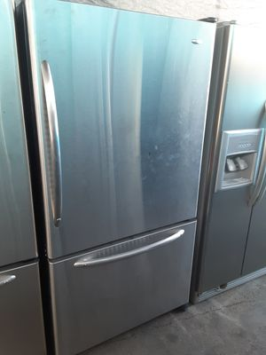 $399 whirlpool stainless bottom freezer fridge includes delivery in the San Fernando Valley a warranty and installation for Sale in Los Angeles, CA