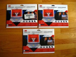 """Lot of 3M Laptop Notebook LCD Monitor 14"""" Privacy Filters for Sale in Steilacoom, WA"""