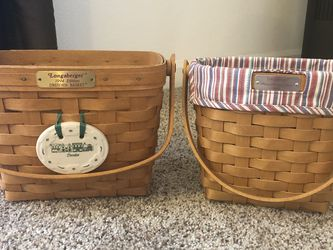 Longaberger 2005 Woven Memories and 1994 Dresden Baskets for Sale in Seattle,  WA