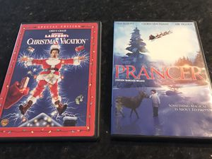 2 Christmas movies, Christmas Vacation and Prancer for Sale in Des Moines, WA