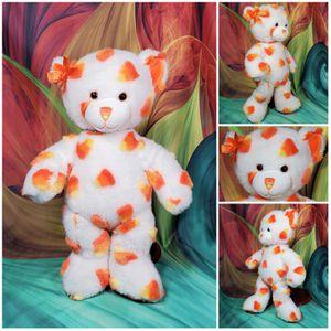"16"" Build A Bear Candy Corn 2010 Plush Teddy Halloween White & Orange Fall BAB for Sale in Dale, TX"