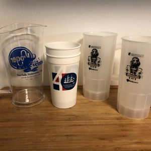 Free Assorted Plastic Cups And Pitcher for Sale in Portsmouth, VA