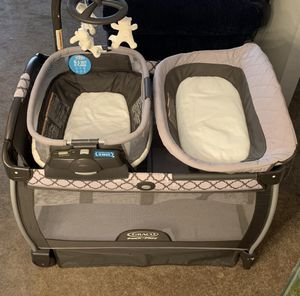 Graco Pack and Play reversible mapper with changing table for Sale in Silver Spring, MD