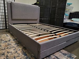 Full Size Bed Frame with 2 Drawers for Sale in Santa Ana, CA