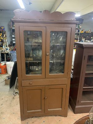 Large antique cupboard hutch for Sale in Freedom, PA
