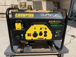 Champions 3500 watt Dual Fuel Generator lightly used for Sale in Las Vegas, NV
