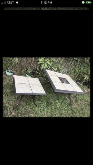 "2 Martha Stuart tables Need cleaned and painted Small table 26""S x 20""H Big table 41 1/2""S x 28""H $50 for Sale in Pembroke Pines, FL"
