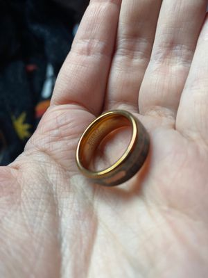 Men's ring size 8 wood and antler in tungsten carbide for Sale in Olympia, WA
