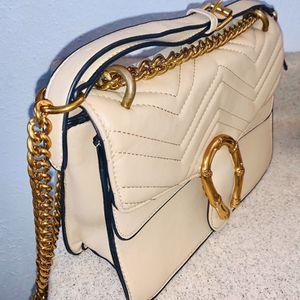 Nude Gold Chain Bag W/ Strap New for Sale in Santa Ana, CA