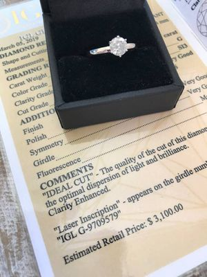 .81 CARAT 14k DIAMOND ENGAGEMENT WEDDING RING LOOKS LIKE 1 CARAT! for Sale in Carlsbad, CA