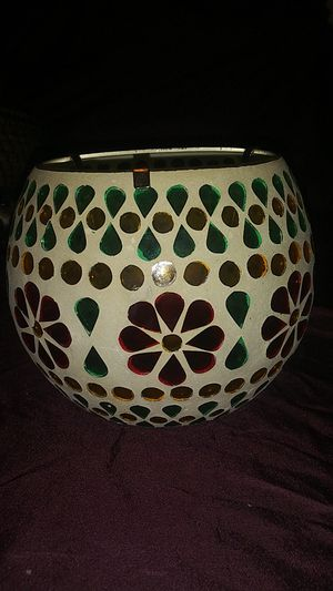 Mosaic decorative candle holder for Sale in Palos Hills, IL