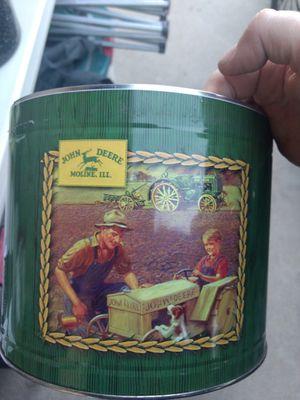 John Deere Green Tractor Design Metal Tin Container for Sale in Hesperia, CA