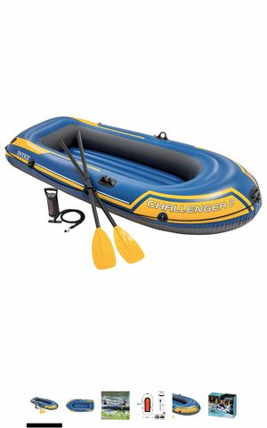 Intex Challenger 2 - inflatable 2 person boat with oats and pump for Sale in Buena Park, CA