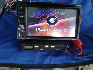 Used, Planet Audio double din tv & cd & dvd player & BT & Aux & USB input & SD card slot reader. for Sale for sale  College Park, GA