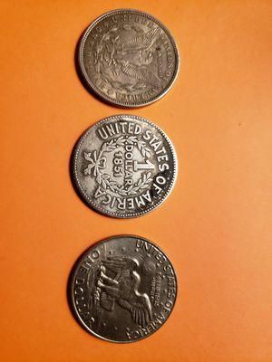 3 old coin silver 1921. 1851. 1978 for Sale in Manassas, VA