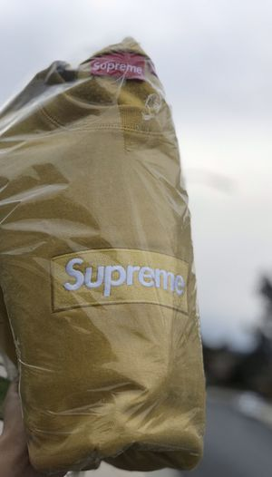 Supreme Mustard Box Logo Crewneck for Sale in Rancho Cucamonga, CA