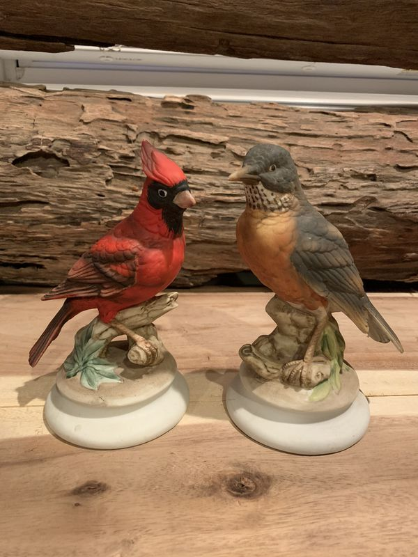 Porcelain china bird pair