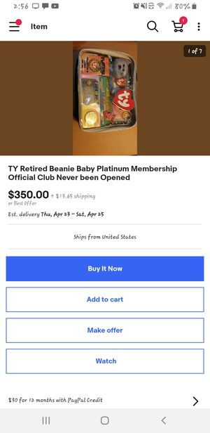 TY Retired Beanie Baby Platinum membership kit never opened for Sale in Columbus, OH