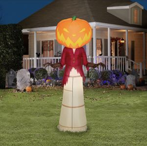 Nightmare Before Christmas 5 Ft Pumpkin King Airblown LED Inflatable Gemmy NIB for Sale in Tacoma, WA