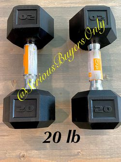 Pair Of 20 Lb Dumbbell Weights (gym and exercise Equipment Fitness ) for Sale in Fontana,  CA