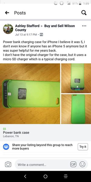 iPhone 5 charging case for Sale in Lebanon, TN