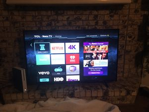 55in TCL Roku Tv with remote for Sale in Garland, TX