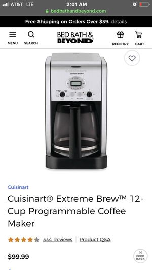 Cuisinart EXTREME BREW Coffee maker for Sale in Fairfax Station, VA