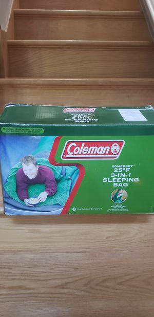 Coleman Somerest 25° F ( 3- in - 1)Sleeping bag( new) for Sale in Woodbridge, CT