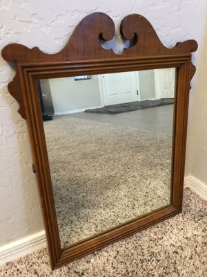 21x18 Small wood framed Antique Mirror Vanity mirror for Sale in Gilbert, AZ