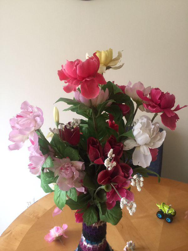 Handmade vase with flowers or just vase on its own